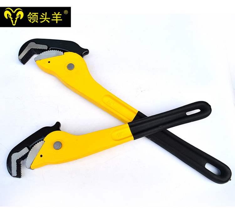 日本购快速扳手快速管子钳管钳快速管钳水管钳钳管扳手钳子工具