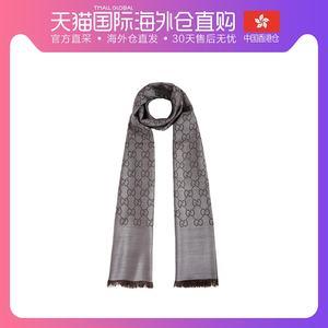 香港直邮QH GUCCI 古驰 中性深灰色羊毛中长款围巾 165904-3G646-