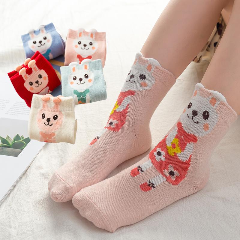 秋冬款小孩儿童纯棉男女童袜子婴儿袜宝宝中筒袜小学生卡通袜子厂