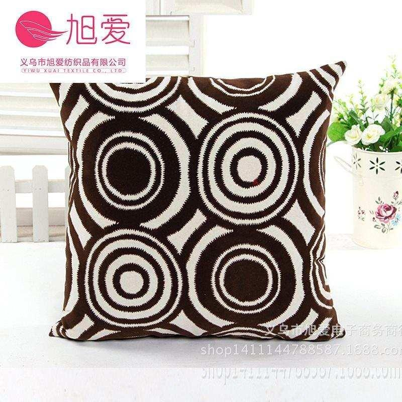 Simple and modern comfortable plush flocking pillow single