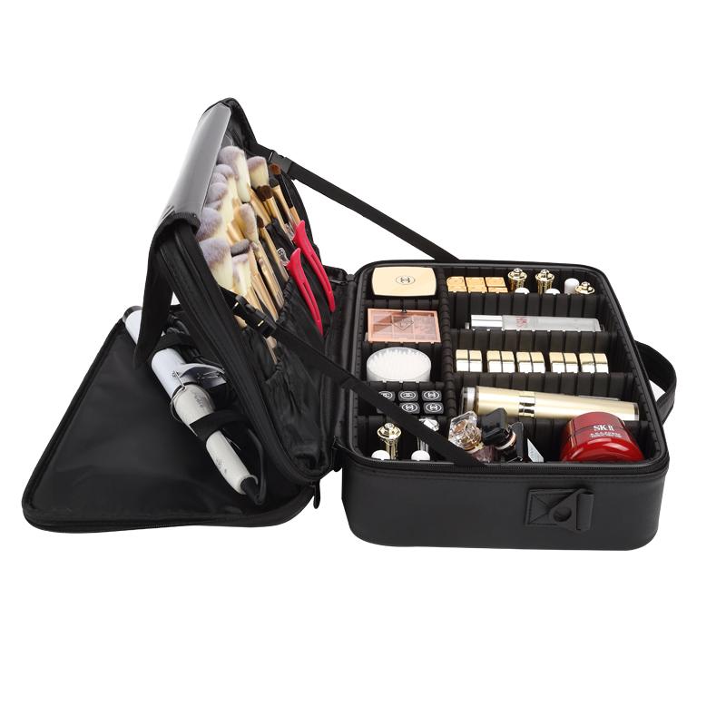 专业便携化妆包女ins风大容量手提跟妆美甲纹绣化妆师工具收纳箱