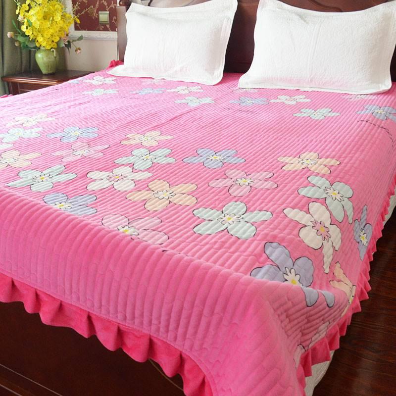 毛布のマットレスの両面にフレキシブルな暗号化水晶の絨毯のベットカバーでキルティングします。