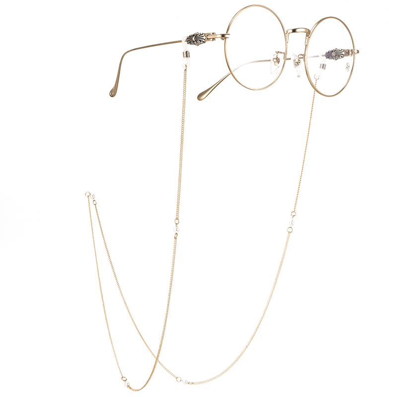Eyewear chain rope fashion neck chain eyewear accessories anti slip chain retro Lolita pearl chain rope