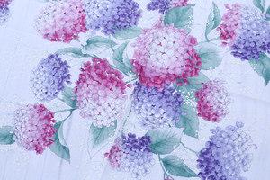 日本制纯棉女士手帕 手绢女士方巾和风紫阳花手帕薄款可做小围巾