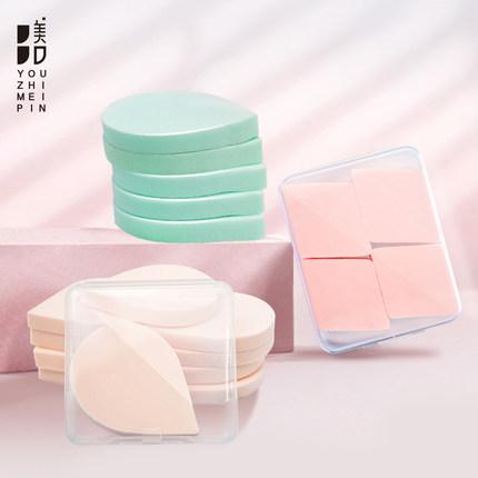 优之美品干湿两用气垫粉扑粉底液粉饼专用超软不吃粉10个装