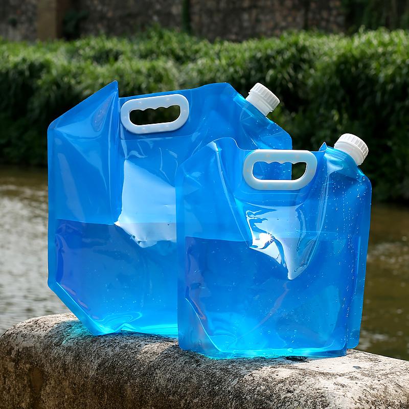 车载便携折叠水袋户外旅行5L10L自驾游环保饮水袋手提储水袋水桶