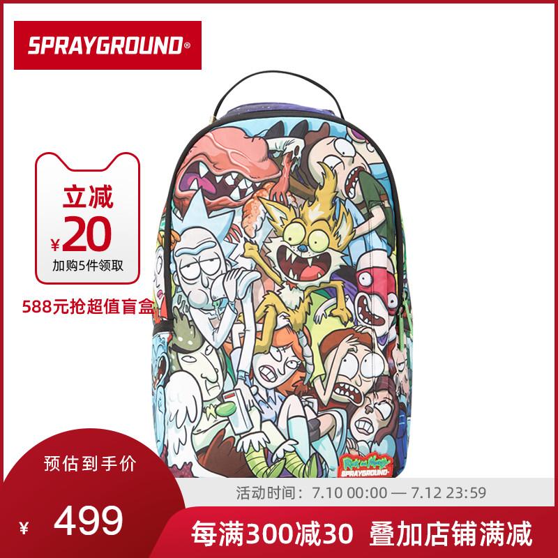 SprayGround疯狂科学家系列DLX基本款双肩包背包书包旅行男女潮牌