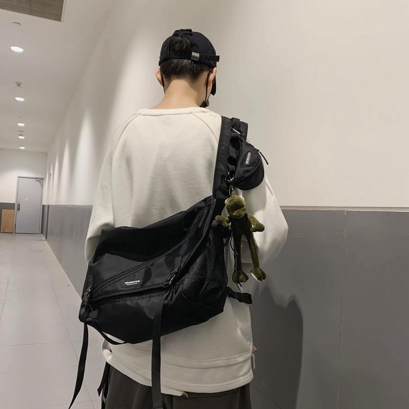 Mens functional wind work bag ins tide brand messenger bag female student large capacity postman bag Japanese one shoulder Backpack