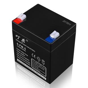 电梯卷闸门24v12v5ah蓄电池拉杆音响电动卷帘门ups安防灯备用