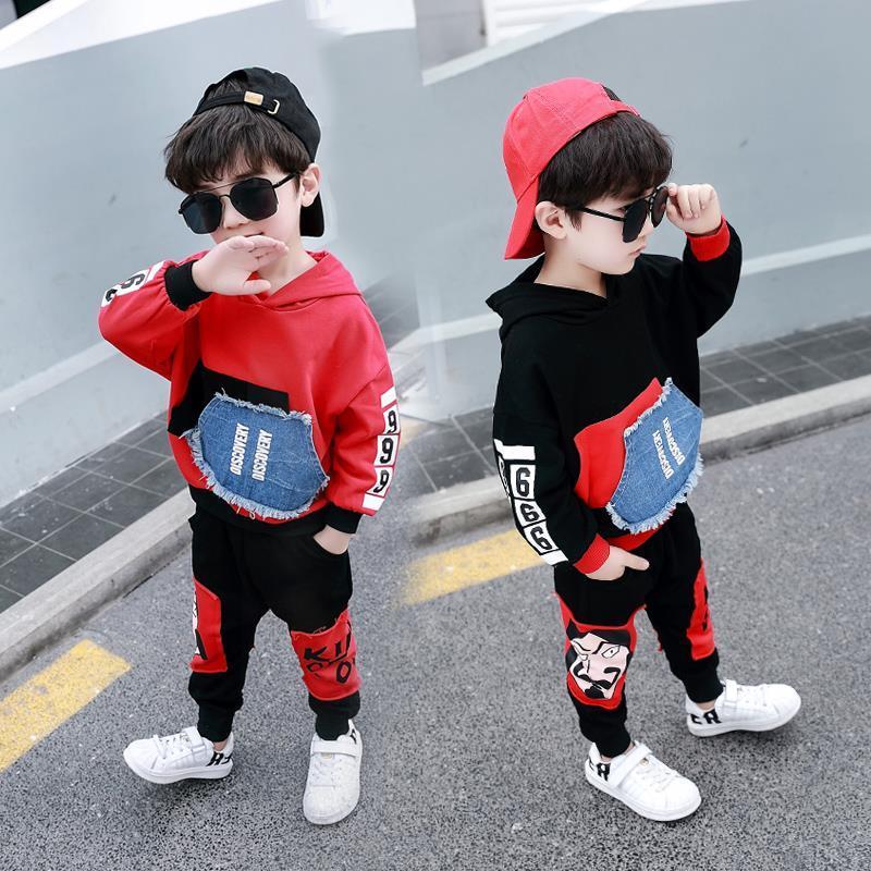2020新款男童卫衣套装春装小童洋气3岁宝宝两件套4韩版5儿童潮装6