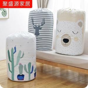 打包平口收纳袋子整理袋棉被圆形薄床垫通用防霉抽绳储物袋被子垫