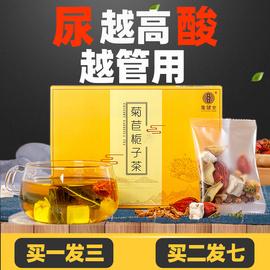 集健堂新品菊苣栀子茶葛根酸降茶尿痠高去风茶排正品菊苣根百合酸
