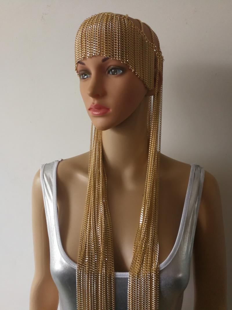 $yesorno $dp8 [gold] mysterious Middle East Egypt India tassel headchain exaggerated hair band European and American headdress
