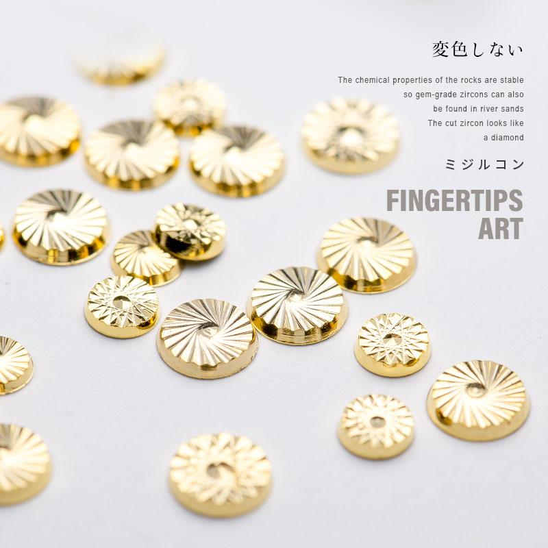 美甲花纹金属铆钉圆形混装钻平底钻