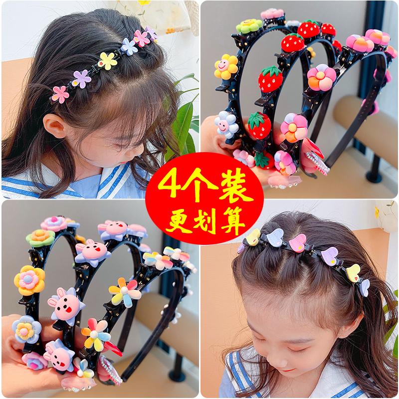 韩国儿童头箍发饰女童发夹宝宝不伤发卡编发发箍碎发神器夹子头饰