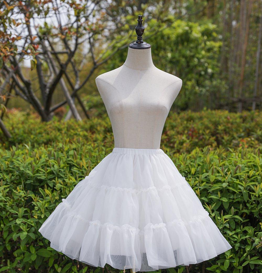 Wedding dress Lolita daily skirt beige skirt wedding accessories studio pompous ballet skirt