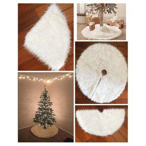 韩国底部围脚手工高档底座摆设固定圆形白色垫子雪树平安夜圣诞树