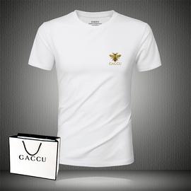 专柜尚古驰正品情侣酷奇短袖T恤男2019夏季男装新款纯色白色t纯棉