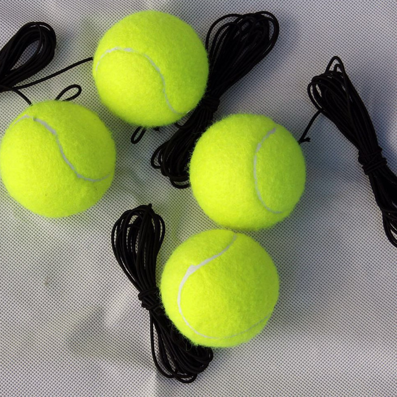 Training tennis with elastic rope swing fitness ball trainer
