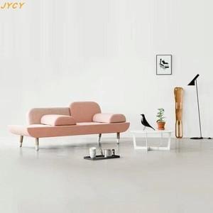 超值简约接待室三人位布艺沙发设计师创意座椅北欧住宅小户型家具