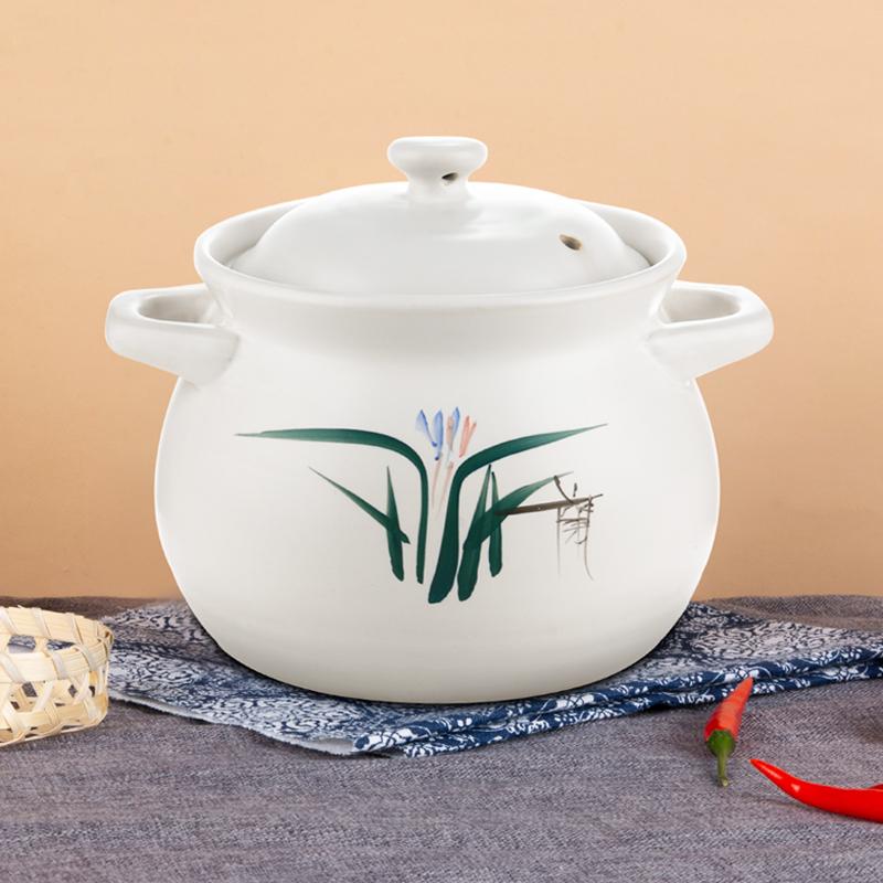 统悦 砂锅煲汤家用燃气耐高温陶瓷炖锅煲汤锅小沙锅明火煤气灶