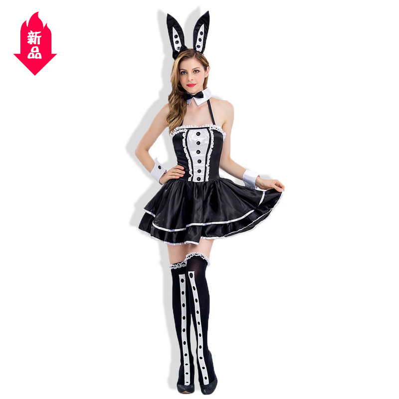 Real time make-up ball Bunny Costume Christmas tuxedo magician show dress DS underwear Q01
