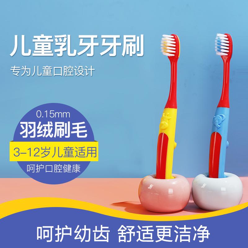 【4支装】沐暄卡通软毛便携式儿童牙刷