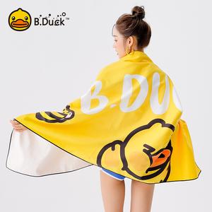 BDuck小黄鸭浴巾儿童成人速干吸水游泳便携海边用品沙滩健身毛巾