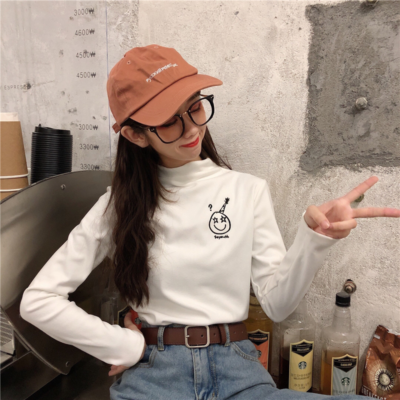 New European style in early autumn of 2020 European top with bottoming top fashion top autumn and winter womens ins long sleeve T-shirt