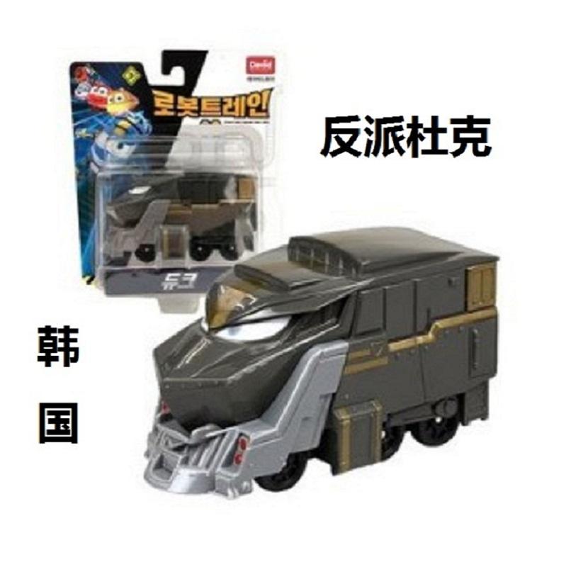 韩国 变形火车杰费里杜克儿童玩具大号机器人train动感火车侠家族