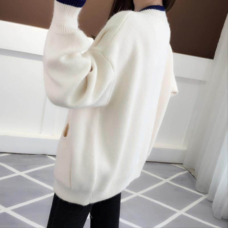 Sweaters, cardigans, Outerwear, womens simple and good-looking middle school students spring and autumn clothing, spring and autumn clothing, fattening, 2019, plus plus size