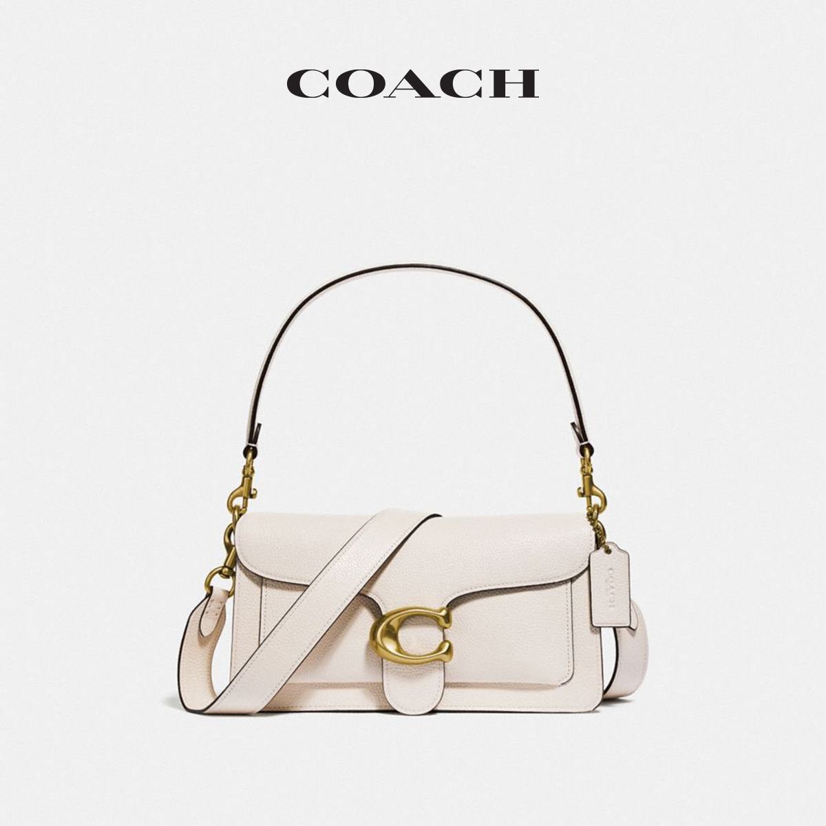 COACH/ Coach Ladies Fashion Trend Polished Pebble Pattern TABBY Series No. 26 Shoulder Bag Messenger Bag