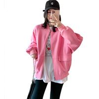 粉色工装棒球女小个子短款宽松夹克价格多少好不好用