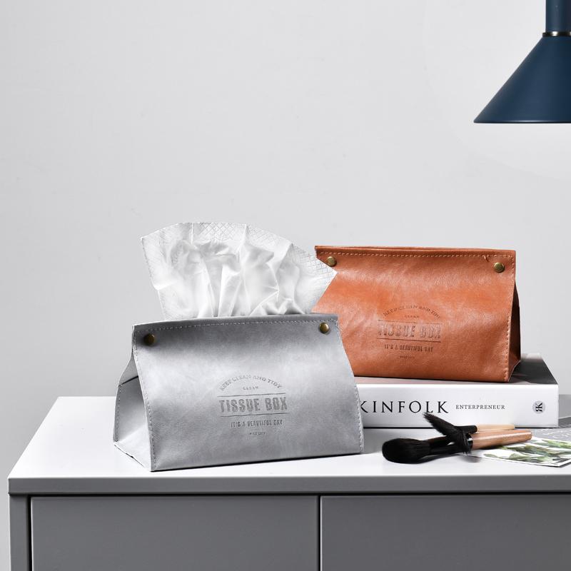 ins北欧创意纸巾袋餐巾纸抽纸盒车载纸巾盒家用客厅餐厅茶几收纳 Изображение 1