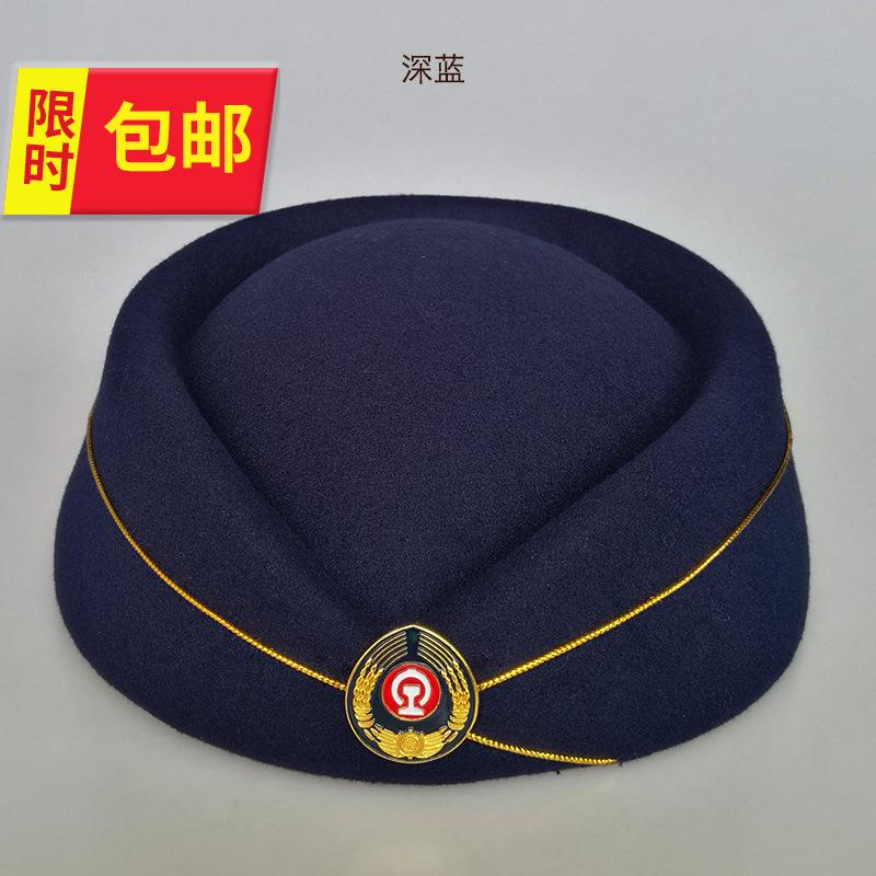 Red performance hat for high speed railway train crew