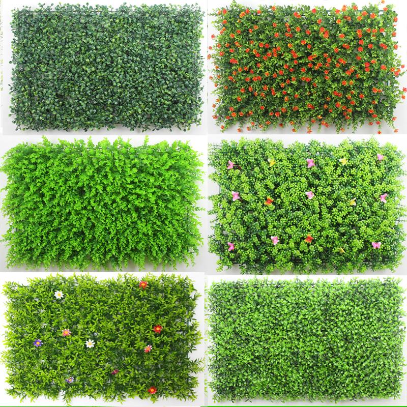 植物壁の室内の田園プラスチックの人工的なうその芝生の装飾をシミュレーションします。