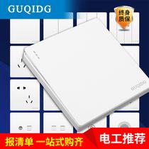 白G12插座多孔USB型大面板家用电源插座86公牛开关插座官方店装饰