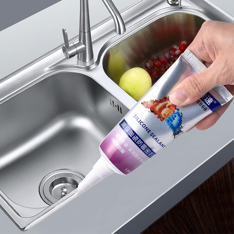 Sealing glue for kitchen sink waterproof and mould proof dishwashing basin edge of washing pool