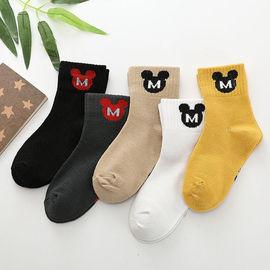 襪16女童5寶寶歲10筒0雙男童網眼襪子學生/襪嬰幼兒襪中兒童夏季-圖片