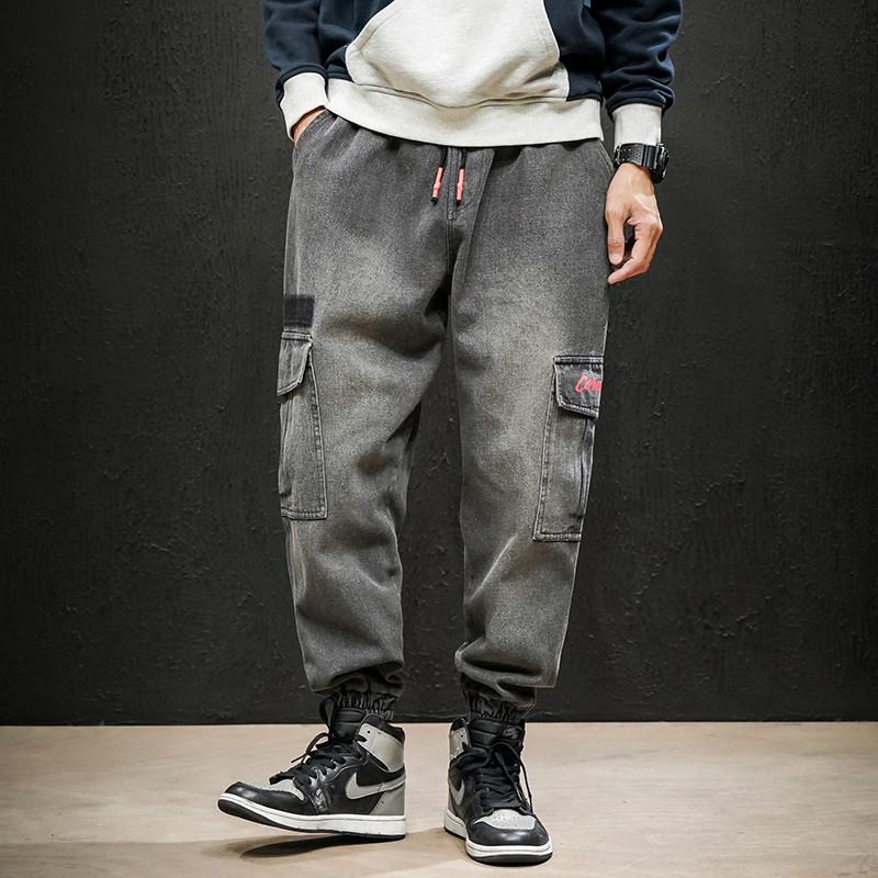 Mens work clothes pants, new jeans in autumn and winter, Korean trend, casual leggings, loose pants, long pants, men