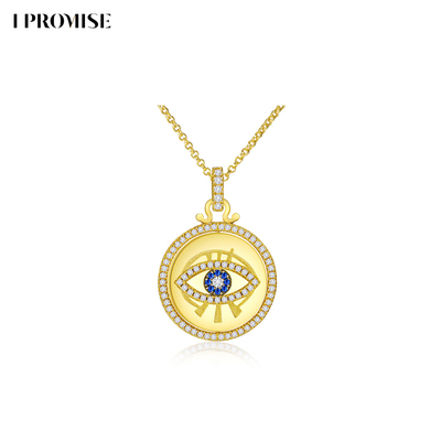 IPromise Epmes OK Eye Series Necklace Pendant Fashion Light Luxury Clavicle Chain Temperament Necklace Ins Wind
