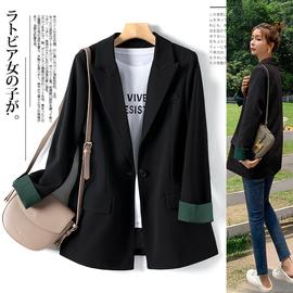 黑色西装外套女中长款2020年新款秋季厚款时尚显瘦春秋网红小西服