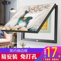 客廳山水畫沙發背景墻風水靠山招財玻璃面中國風新中式裝飾畫掛畫