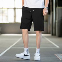 Summer thin ice silk shorts men's Capris quick drying mesh air conditioning pants sports wear casual loose beach pants