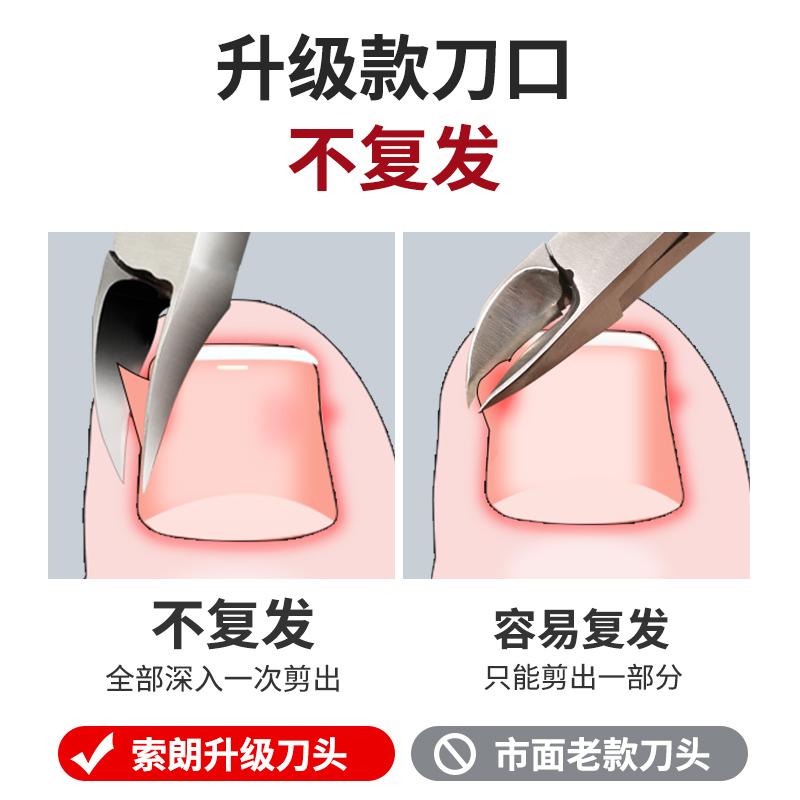 甲沟专用指甲剪刀鹰嘴脚趾甲剪套装鹰嘴钳尖嘴神器修脚工具钳子炎