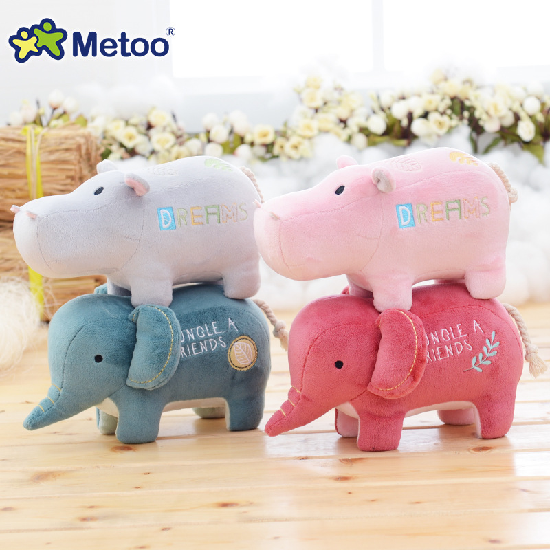 Metoo hippopotamus Elephant Plush Doll cloth doll Claw Machine doll q22
