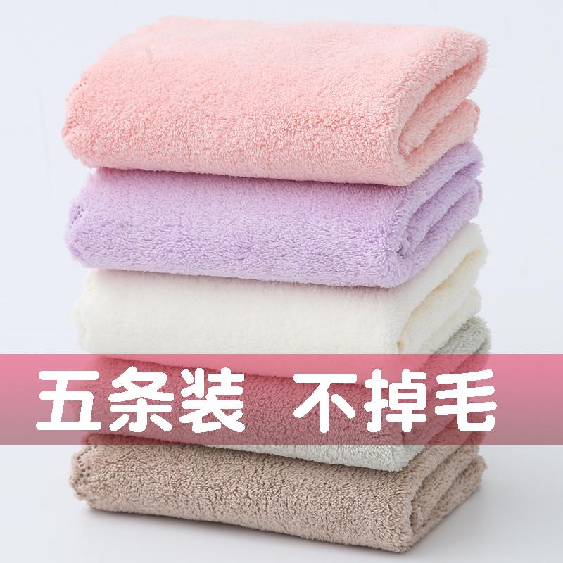 5条装温迪儿童方巾洗脸巾珊瑚绒宝宝柔软小毛巾口水巾-纯棉毛巾(温迪旗舰店仅售10.9元)