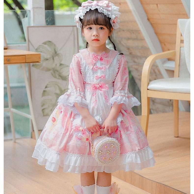 儿童洛丽塔lolita春西班牙洋装公主蓬蓬裙复古宫廷女童日常连衣裙