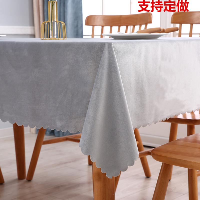 茶几餐桌布艺荷兰绒长方形北欧网红桌布台布现代简约正方桌圆桌布,可领取3元天猫优惠券