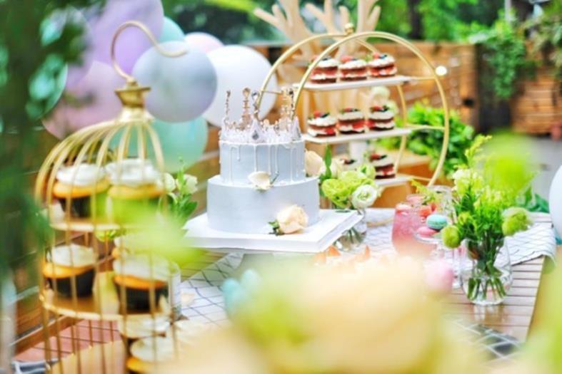 点心架子旋转多层下午茶创意摆设西式装饰水果盘森系甜品婚庆托盘